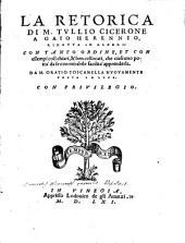 La retorica di M. Tullio Cicerone a Gaio Herennio