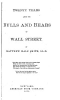 Twenty Years Among the Bulls and Bears of Wall Street PDF