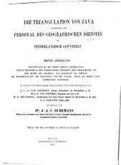 Die Triangulation von Java ausgeführt vom Personal des geographischen Dienstes in Niederländisch Ost-Indien: Erste [sechste und letzte] Abtheilung, Bände 3-4