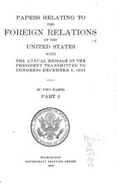 Papers Relating to the Foreign Relations of the United States: Volume 2