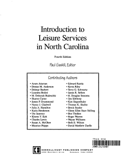 Introduction to Leisure Services in North Carolina PDF