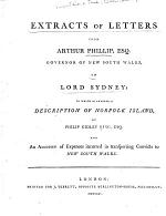 Extracts of Letters from Arthur Phillip, Esq., Governor of New South Wales, to Lord Sydney