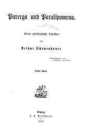 Arthur Schopenhauer's Sämmlichte Werke: Parerga und paralipomena. Kliene philosophische schriften