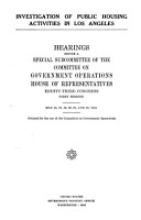 Investigation of Public Housing Activities in Los Angeles     PDF