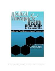 Medical Therapy And Health Maintenance For Transgender Men A Guide For Health Care Providers Book PDF