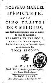 Le manuel d'Epictète: Et les Commentaires de Simplicius, Volume2