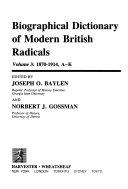 Biographical Dictionary of Modern British Radicals PDF