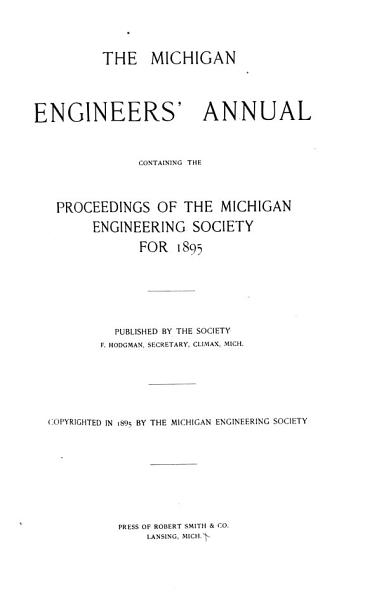 Download The Michigan Engineers  Annual Book