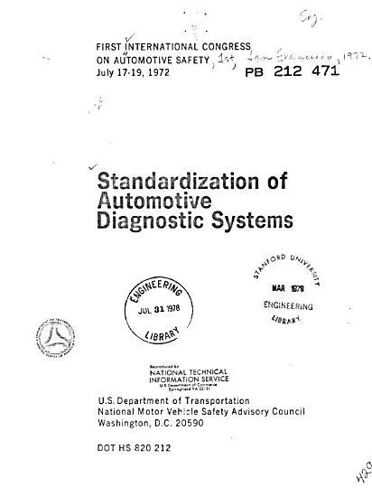 Standardization of Automotive Diagnostic Systems PDF