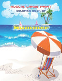 Adults Large Print Coloring Book of Summer