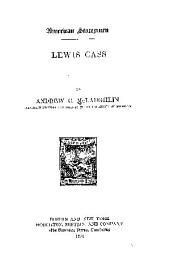 Lewis Cass: Volume 24