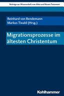 Migrationsprozesse Im Altesten Christentum