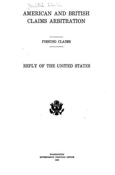 Download American and British Claims Arbitration  Fishing Claims Book