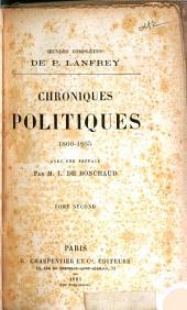 Chroniques politiques, 1860-1865: Volume2