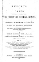 Reports of Cases Argued and Determined in the Court of Queen s Bench PDF