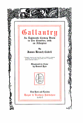 Gallantry: an eighteenth century dizain in ten comedies