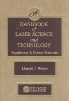 CRC Handbook of Laser Science and Technology Supplement 2 PDF