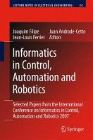 Informatics in Control  Automation and Robotics PDF