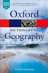 A Dictionary of Geography: Edition 5