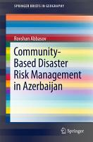 Community Based Disaster Risk Management in Azerbaijan PDF