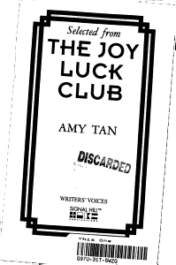 Selected from the Joy Luck Club Book