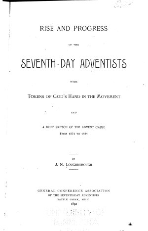 Rise and Progress of the Seventh day Adventists