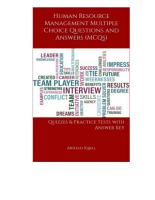 Human Resource Management Multiple Choice Questions and Answers  MCQs  PDF