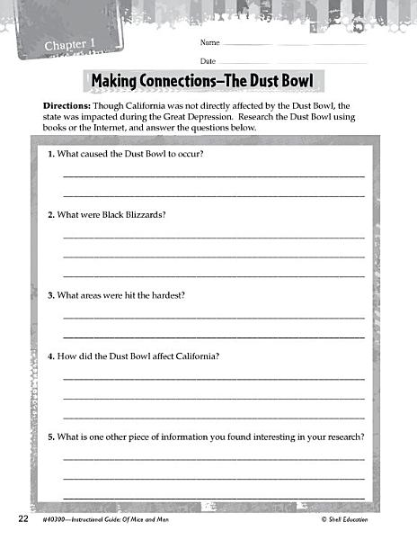 Download Of Mice and Men Making Cross Curricular Connections Book