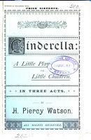 Cinderella  a little play PDF