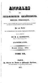 Annales de philosophie chrétienne: Volumes7à8