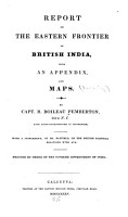 Report on the Eastern Frontier of British India PDF