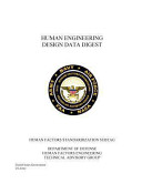 Human Engineering Design Data Digest Human Factors Standardization Subtag PDF