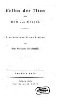 Helios der Titan oder Rom und Neapel PDF