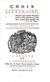 Choix littéraire: Volumes9à10