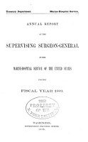 Annual report of the Surgeon General of the Public Health Service of the United States for the fiscal year     1889 PDF