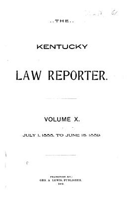 The Kentucky Law Reporter PDF
