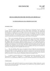 OECD Guidelines for the Testing of Chemicals, Section 4 Test No. 487: In Vitro Mammalian Cell Micronucleus Test: Issue 487