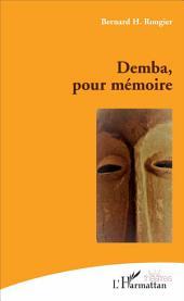 Demba pour mémoire