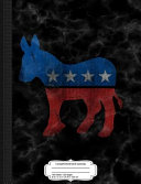 Vintage Democratic Donkey Democrat Composition Notebook: College Ruled 93/4 X 71/2 100 Sheets 200 Pages for Writing
