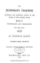 The Statesman's Year-book: Volume 13