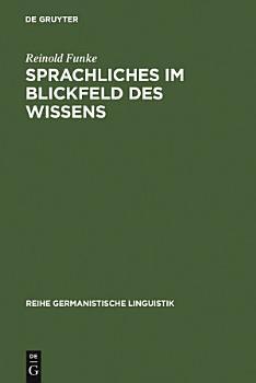 Sprachliches im Blickfeld des Wissens PDF