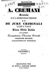 De jure criminali: Libri Tres, Volume 1