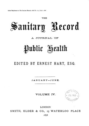 THE SANITARY RECORD A JOURNAL OF PUBLIC HEALTH PDF