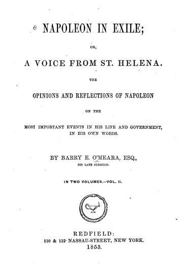 Napoleon in Exile PDF