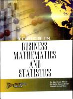 Topics in Business Mathematics and Statistics PDF