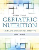 Geriatric Nutrition PDF