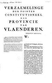 Verzaemelinge der pointen constitutioneel der provincie van Vlaenderen