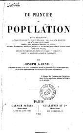 Du principe de population par Joseph Garnier