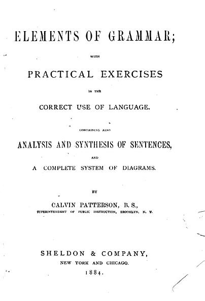 Elements of Grammar PDF