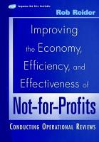 Improving the Economy  Efficiency  and Effectiveness of Not for Profits PDF